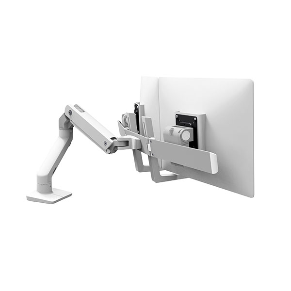 Ergotron 45 476 216 Hx Desk Dual Monitor Arm White