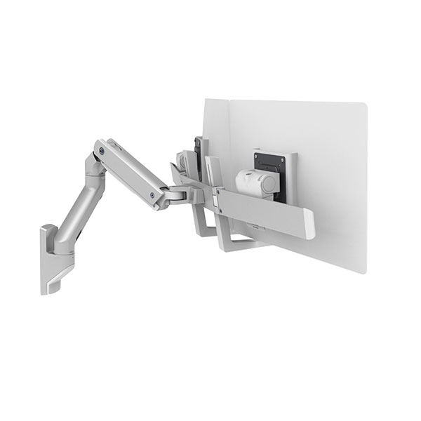 Ergotron 45 479 231 Hx Wall Dual Monitor Arm Silver
