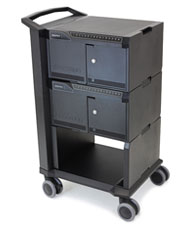 "Tablet Management Cart 32, with ISI <span class=""subT"">- cabled for Lightning iPad</span>"