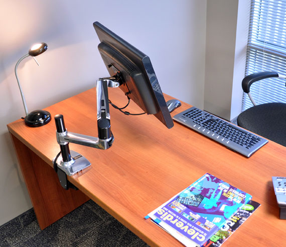 dual mount ergotron notebookreview arm lx desk review