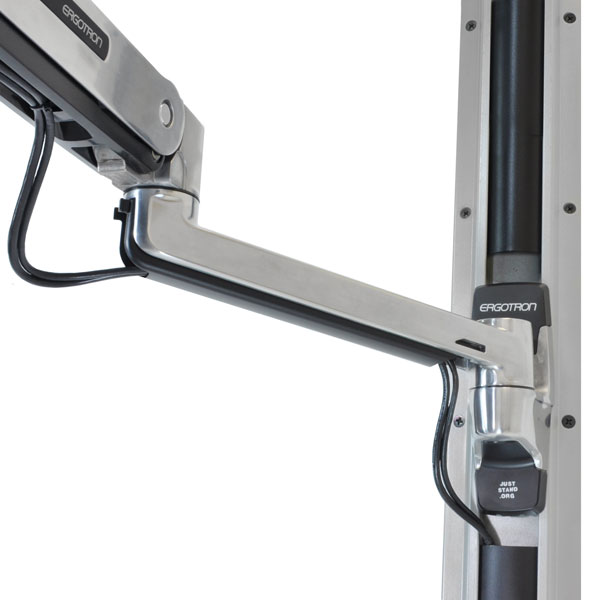Ergotron 45 353 026 Lx Sit Stand Wall Mount Monitor Arm