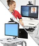 SV Telepresence Kit, Back-to-Back Monitor, for SV43/44 carts