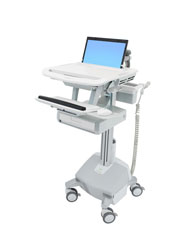 StyleView® Laptop Cart, LiFe Powered, 1 Drawer (1x1)