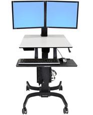 WorkFit-C, Dual <br />Sit-Stand Workstation