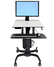 WorkFit-C, Single HD <br />Sit-Stand Workstation