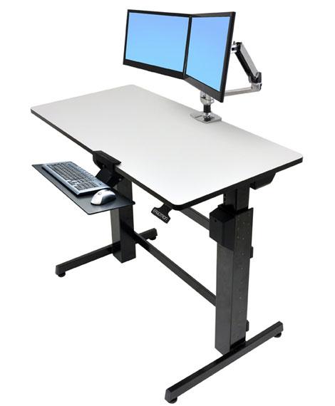 Ergotron 24271926 WorkFitD SitStand Desk light grey