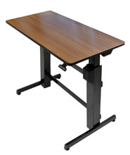 WorkFit D, Sit Stand Desk (walnut)