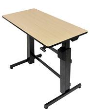 WorkFit-D, Sit-Stand Desk (birch)