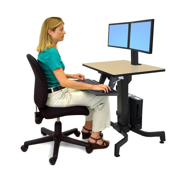 Ergotron 24 280 928 Workfit Pd Adjustable Standing Desk