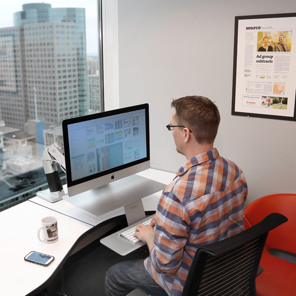Ergotron 24 414 227 Workfit A Standing Desk Arm For Apple Imac