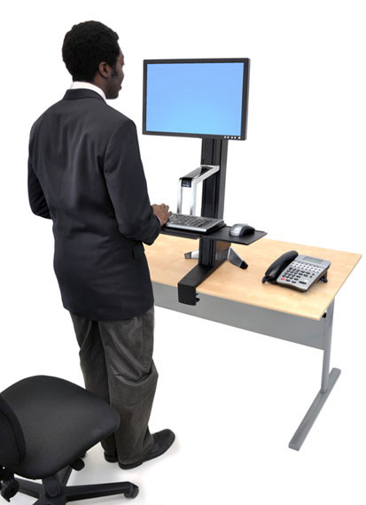 Ergotron 33 344 200 Workfit S Adjustable Standing Desk