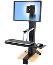 "WorkFit-S, Single HD <span class=""nobr"">Sit-Stand Workstation</span>"