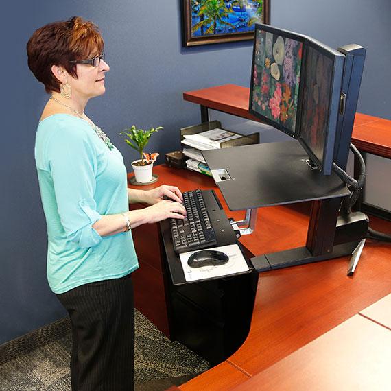 Ergotron 33 349 200 Workfit S Adjustable Standing Desk
