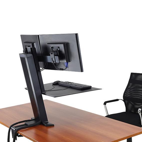 Ergotron 33 407 085 Workfit Sr Dual Monitor Sit Stand