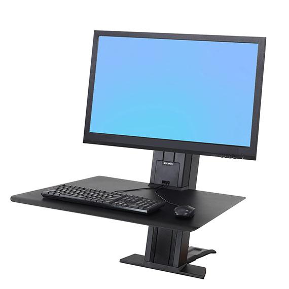 ergotron 33 416 085 workfit sr schwerer monitor sitz steh schreibtisch arbeitsplatz schwarz. Black Bedroom Furniture Sets. Home Design Ideas