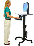 Sit-Stand Mobile Workstations